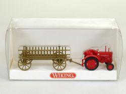 Wiking 8930131 Hanomag R 16 Leiterwagen mit Traktor NEU! OVP