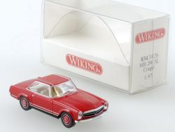 Wiking 8343926 Mercedes MB 280 SL Coupé W 113 rot 1:87 NEU! OVP