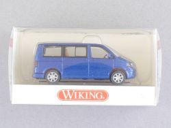 Wiking 3080228 Volkswagen VW Multivan T5 ravennablau NEU! OVP
