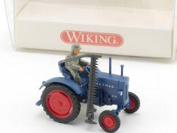 Wiking 8850228 Hanomag R 16 Traktor Figur Mähwerk NEU! OVP