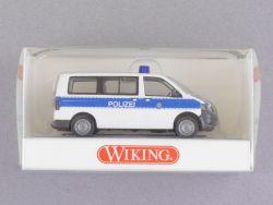 Wiking 1043234 Volkswagen VW T5 Bus Polizei blau-weiß NEU! OVP