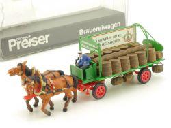 Preiser 462 Brauereiwagen Landwehr-Bräu Fuhrwerk Figuren H0 OVP