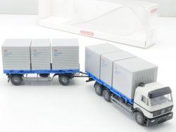 Wiking 5740236 MB Mercedes Lastzug mit Logistikboxen 1:87 NEU OVP