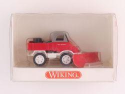 Wiking 8610728 Feuerwehr MB Unimog 411 mit Schneepflug NEU! OVP