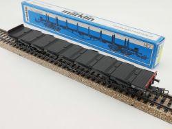 Märklin 4663 Rungenwagen Güterwagen Flachwagen DB sehr gut OVP ST