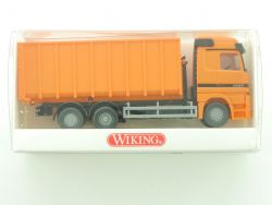 Wiking 6720133 MB Mercedes Actors Meiller Abrollkipper NEU OVP