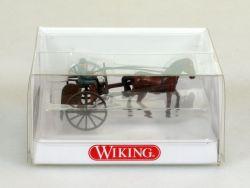 Wiking 8890128 Schlepprechen Fahrer Pferd Kutsche 1:87 NEU OVP