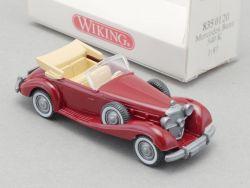 Wiking 8350120 Mercedes MB 540 K Cabrio Rot Modell 1:87 NEU OVP