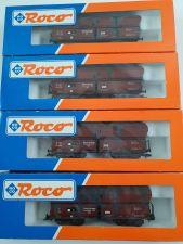 Roco 46242 Konvolut 4x Selbstentladewagen Schüttgut gealtert OVP