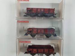 Fleischmann 5208 Konvolut 3x Güterwagen Reichsbahn gealtert OVP