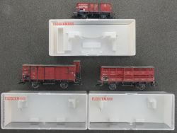 Fleischmann Konvolut 3x Güterwagen DRG  z.B. 5365 gealtert OVP