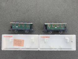 Fleischmann Konvolut 2x Personenwagen DRG 5051 5052 gesupert OVP