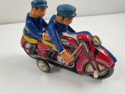 MF China 162 Motorcycle Blechspielzeug Uhrwerk Motorrad älter