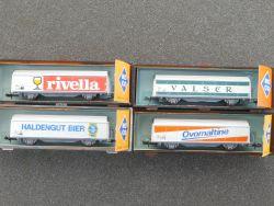 Roco Konvolut 4x Güterwagen 02326 A D G H SBB Schweiz schön! OVP
