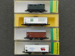 Minitrix Konvolut 4x Güterwagen 3528 3256 3254 3534 Spur N OVP