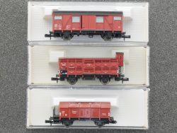 Fleischmann Konvolut 3x Güterwagen 8210 8330 8356 Spur N OVP
