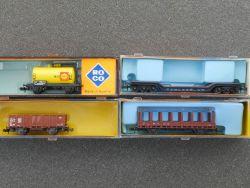 Roco/Arnold Konvolut 4x Güterwagen 2314 2356 2317 0435 schön OVP