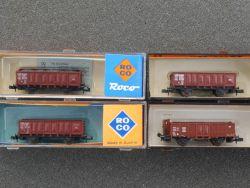Roco Konvolut 4x Güterwagen 2310 02338A 2x 25017 schön! OVP