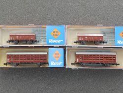 Roco Konvolut 4x Güterwagen 25051 25056 DB Spur N schön! OVP