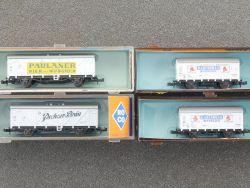 Roco Konvolut 4x Bierwagen 25010 25011 2x 02321F Spur N schön! OVP