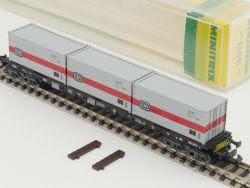 Minitrix 51 3511 00 Containertragwagen 434 0 158-3 DB 13511 OVP