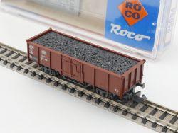 Roco 25084 Hochbordwagen Ladegut Kohle DB Spur N wie NEU! OVP