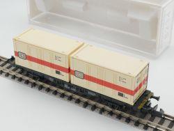 Fleischmann 8234 Tragwagen Container Behälter DB SW N wie NEU! OVP
