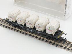 Fleischmann 8232 K Behälter-Tragwagen Dortmunder Union EVP