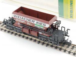 Minitrix 13294 Schüttgutwagen Weiacher Kies braun SBB TOP! OVP