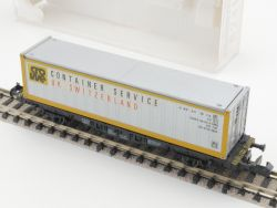Fleischmann 8241 Container-Tragwagen Service UK Switzerland  OVP