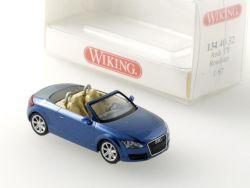 Wiking 1344032 Audi TT Roadster metallic-blau Modellauto H0 NEU OVP