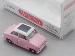 Wiking 018499 Glas Goggomobil Faltdach Modellauto 1:87 NEU! OVP