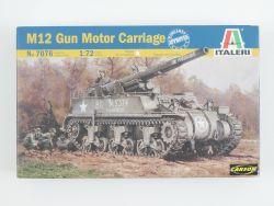 Italeri 7076 M12 Gun Motor Carriage Panzer Bausatz 1:72 NEU! OVP