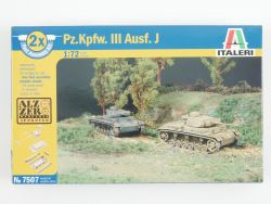 Italeri 7507 2 Pz.Kpfw.III Ausf.J Early Late Alzero KIT 1:72 OVP