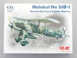 ICM 72191 Heinkel He 51B-1 Spanish Air Force Biplane 1:72 NEU OVP