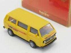 Herpa 4127 VW Bully Bus Postkurier PK Transporter T3 1:87 NE OVP