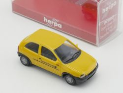 Herpa 042840 Opel Corsa GLS 2türig Post Modellauto 1:87 NEU! OVP