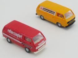 Wiking Konvolut 2x 890 VW T3 Bus Seyfert Jungheinrich 1:87