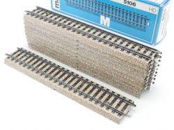Märklin 5106 10x Gerades M-Gleis Metallgleis Gerade wie NEU OVP ST