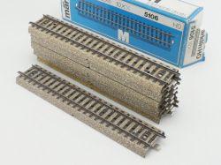 Märklin 5106 10x Gerades M-Gleis Metallgleis gebraucht OVP ST