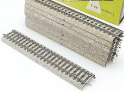 Märklin 5106 10x Gerades M-Gleis Metallgleis gebraucht OVP