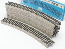 Märklin 5200 10x Gebogenes Gleisstück R2 M-Gleis TOP! OVP ST