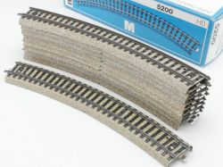 Märklin 5200 10x Gebogenes Gleisstück R2 M-Gleis Sehr GUT! OVP