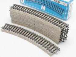 Märklin 5100 10x Gebogenes Gleisstück R1 M-Gleis wie NEU! OVP ST
