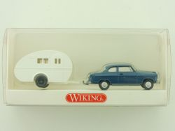 Wiking 8940126 Borgward Isabella Wohnwagen-Ei Gespann NEU! OVP