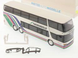 Rietze 60272 Setra S 328 DT Twerenbold Reisebus Baden CH NEU OVP SG