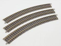 Fleischmann 6120 Profi-Gleis 3x gebogenes Gleis R1 TOP!
