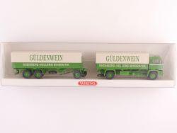 Wiking 8490540 Büssing BS 16 L Pritschen-Lastzug Güldenwein OVP