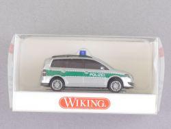 Wiking 1043533 Volkswagen VW Touran Polizei grün-silber NEU! OVP