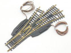 Fleischmann 6058 Elektr. Dreiwegeweiche Modellgleis wie NEU
